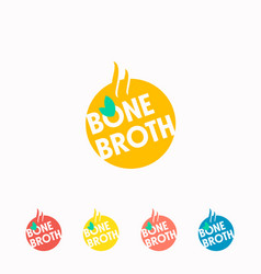 Bone broth abstract sign symbol or logo template vector