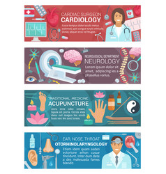 cardiology acupuncture and neurology medicine vector image