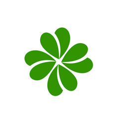 clover icon design template isolated vector image