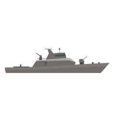 coast guard cutter flat design vector image