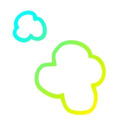 Cold gradient line drawing cartoon posmoke vector