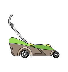Color lawnmower icon garden icon logo lineart vector