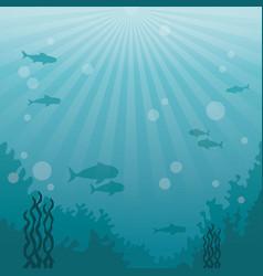 Colorful background sea landscape underwater vector