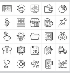 commerce trendy style icons on white background vector image