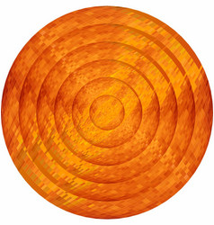 Concentric orange circles in mosaic vector