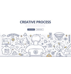 Creative Process Doodle Design vector image