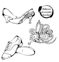 dance line ballroom standard accessories vector image
