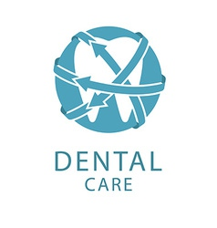 Dental logo shape tooth health care concept vector image