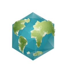 earth polygon planet geometric figure hexagon vector image