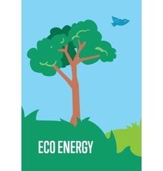 Eco energy banner Natural landscape vector