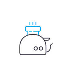electric kettle linear icon concept electric vector image