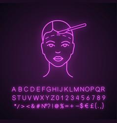 Facelift surgery neon light icon vector