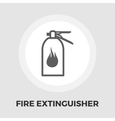Fire extinguisher flat icon vector