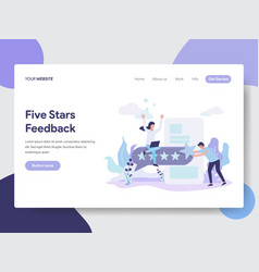 five stars feedback vector image