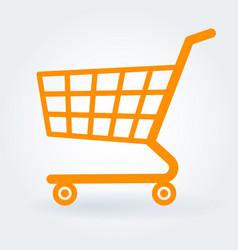 Flat design shopping cart vector