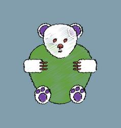 Flat shading style icon teddy bear vector