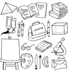 For kids school object doodles vector