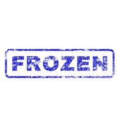 Frozen rubber stamp vector