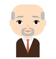 Grandfather man avatar male cartoon character vector