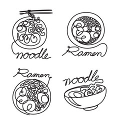 Graphic noodle vector