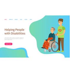 helping people with disabilities volunteer work vector image