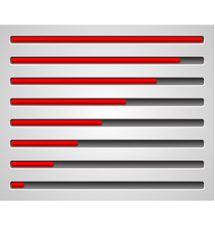 Horizontal level indicators progress or loading vector