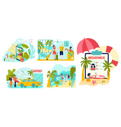 hot tour travel planning summer vacation vector image