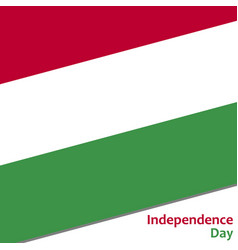 Hungary independence day vector