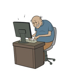 Internet troll vector