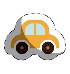 Isolated baby toy car design vector