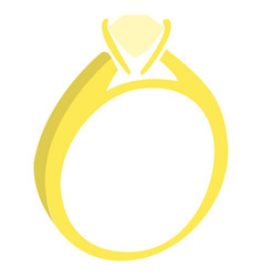 isolated wedding ring vector image
