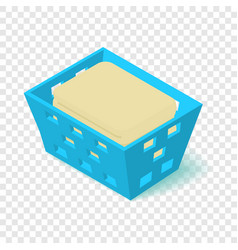 Laundry basket icon isometric 3d style vector