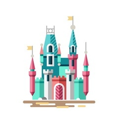 Magical castle Fabulous palace vector image