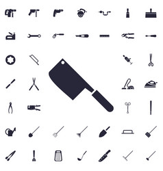 Meat knife icon vector