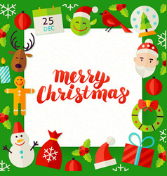 Merry Christmas Paper Template vector