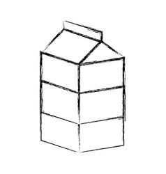 milk box icon vector image