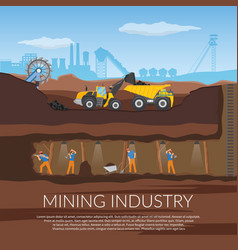 Miners flat composition vector