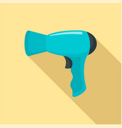 Modern hair dryer icon flat style vector