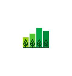nature statistic logo icon design vector image