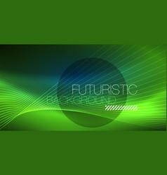 neon glowing magic background neon banner night vector image