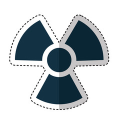 Nuclear sign isolated icon vector