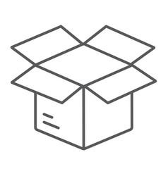 open box thin line icon e commerce and marketing vector image