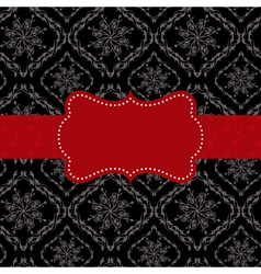 ornate frame on seamless pattern background vector image