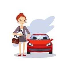 Parking at Work Daily Routine Activities of Women vector
