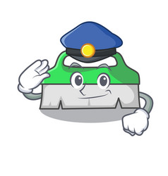 Police scrub brush character cartoon vector