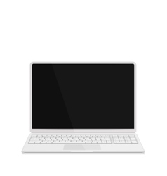 Realistic Laptop with Keyboard Isolated on White vector