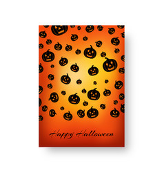 rectangle blanket with pumpkins for halloween vector image