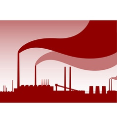 red factory vector image