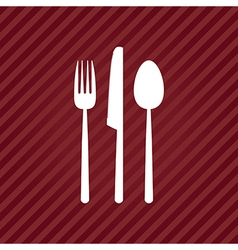 red menu vector image