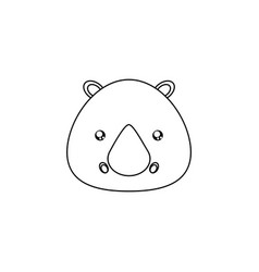 Rhino drawing face vector